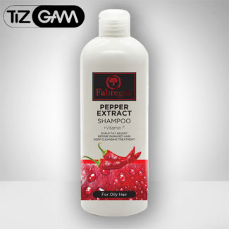شامپو موی فابرگاس سر فابریگاس فابرگاس فلفل فلفلی تیزگام tizgam shampoo pepper oily hair مخصوص موهای چرب حجم دهنده مو تقویت