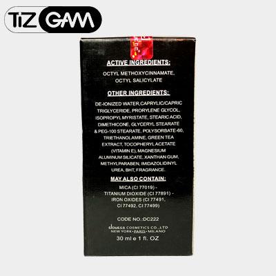 عکس پشت اورگانیک کرم پودر دو سه دوسه 2 3 خارجی خوب عالی کیفیت اصلی اورجینال با دوام ضد اب تعریق طبیعی تیزگام tizgam dose doce doucce creame