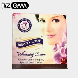 پکیج کرم و صابون بیوتی لوپ face cream and soap beauty loop ضد پیری چین چروک سفید کننده تیزگام tizgam کم مک
