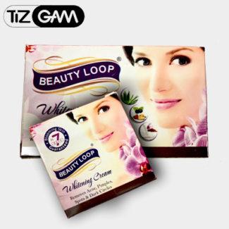پکیج کرم و صابون بیوتی لوپ face cream and soap beauty loop ضد پیری چین چروک سفید کننده تیزگام tizgam