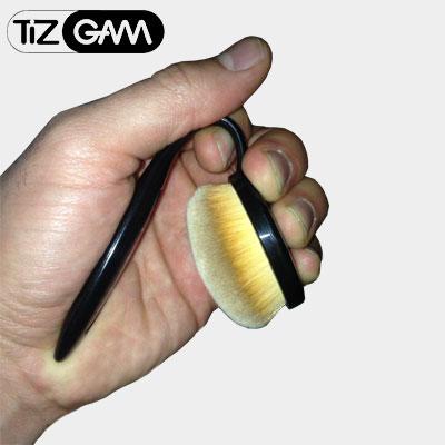 تست براش برس قلمو آرایش صورت کرمپودر محکم نشکن نرم و لطیف پر پشت تیزگام tizgam pack brush 6 piece mac