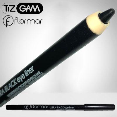 مداد-خط-چشم-شمعی-فلورمار-اصلی-با-کیفیت-تیزگام-tizgam-flormar-eye-liner-pencil روغنی اصلی اورجینال نرم لطیف سبک روان براق خیلی مشکی