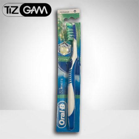 بهترین مسواک آنتی باکتریال ضد حساسیت متوسط مدیوم اورآل بی اورال بی oralb oral b tizgam تیزگام رنگ آبی تیزگام اورالبی tootj brush 3d white medium