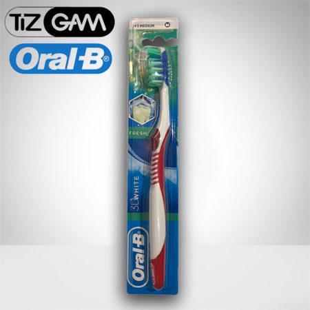 بهترین مسواک آنتی باکتریال ضد حساسیت متوسط مدیوم اورآل بی اورال بی oralb oral b tizgam تیزگام رنگ قرمز تیزگام اورالبی tootj brush 3d white medium