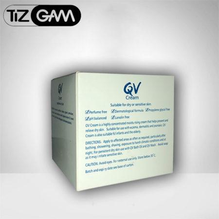 خاصیت های پروانه بهداشتی خواص QV CREAM Highly concentrated moisturising cream for dry skin tizgam کرم دست صورت مرطوب کننده آبرسان قوی کیو وی کیووی تیزگام