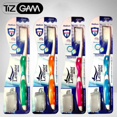 tooth brush jieyou nano lemser مسواک نانو مدیوم medium tizgam تیزگام لمسر سبز نارنجی آبی صورتی