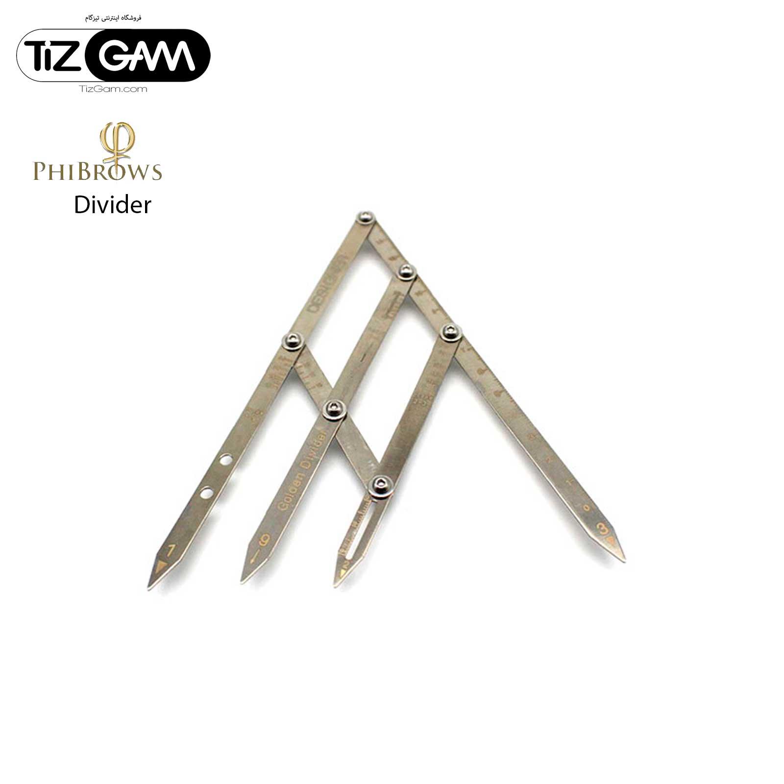 ابزار دیوایدر ابرو فیبروز دستگاه قرینه سازی میکروبلیدیگ تاتو تیزگام phibrows divider tatoo tizgam